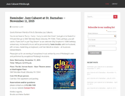 Jazz Cabaret Pittsburgh